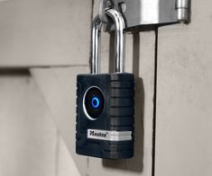 Keep your belongings safe and protected even if they're outside with the Master Lock Outdoor Bluetooth Smart Padlock.