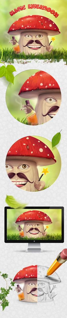 Magic Mushroom by Ercan Nailoğlu, via Behance