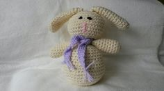 Crocheted Bunny: made while waiting for my granddaughter to arrive!