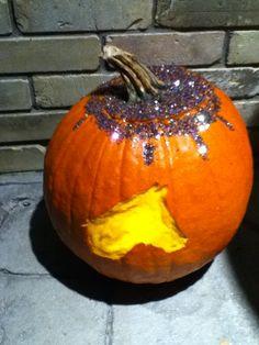 Close-up of Rochelle's Pumpkin!