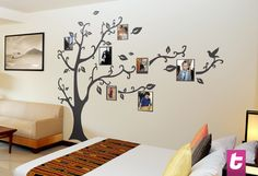 Customise your own family tree with your pictures. You could have pictures of many genertions hanging on this family tree. Our tree wall sticker is great for big families. Get one for your living room today!