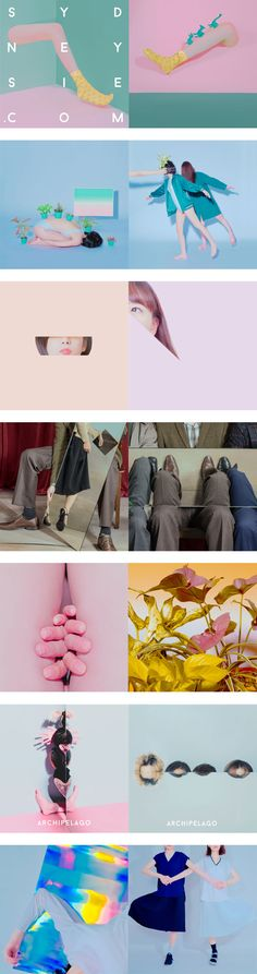 Color, juego, ilusiones ópticas y feminidad. Atmósferas surrealistas creadas por la fotógrafa Sydney Sie, que tenemos que decir que nos molan!