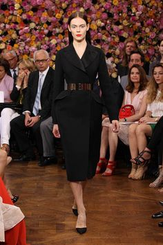 Dior Haute Couture Autumn-Winter 2012 – Look 3: black wool crepe 'Bar' evening coat. Discover more on www.dior.com  #Dior #PFW