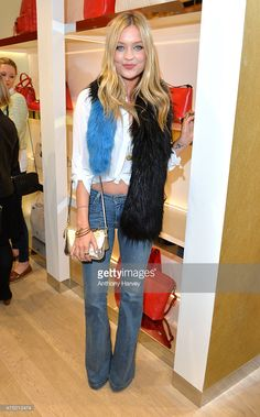 Laura Whitmore attends the launch of the New Folli Follie Flagship Store on Oxford Street on May 28, 2015 in London, England.