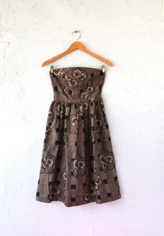 Vintage Japanese 50s Strapless Dress // 50s by ChicVintageHawaii, $52.00