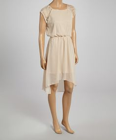 Take a look at the Stone Lace Hi-Low Dress on #zulily today!
