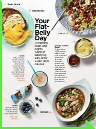 """I saw this in """"Your Flat-Belly Day"""" in Women's Health March 2014."""