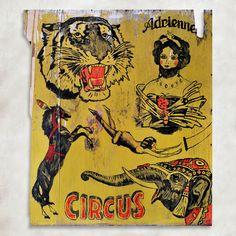 Circus. Wood panel 80x95 cm. For Sale! garryajax@gmail.com #tattoo #vintagetattoo #circus #classictattoo #tattooart