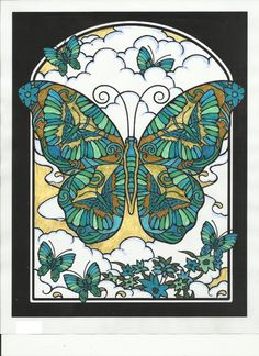 Susan Carlson (18+ division) Fanciful Butterflies Coloring Book