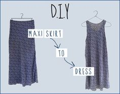 ebb79a50cd19ca Here's a really simple DIY and YouTube tutorial of how to turn a maxi skirt  into