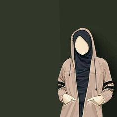 Kumpulan Kartun Hijab Muslimah Cute Love Cartoon Couple, Girl Cartoon, Muslim Girls, Muslim Couples, Hijab Drawing, Islamic Cartoon, Fashion Drawing Dresses, Hijab Cartoon, Islamic Girl