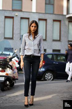 so darn chic, so darn cool. #CapucineSafyurtlu in Milan.