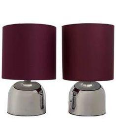 ColourMatch Pair of Touch Table Lamps - Purple Fizz.