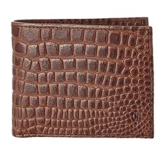 76c6ecd732 Cole Haan Men s Wallet Chestnut Crocodile Print Wallet is in a gift box.  For a
