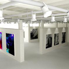 3d art gallery interior