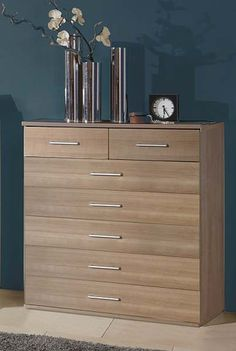 Milan Maple 5+2 Drawer Chest