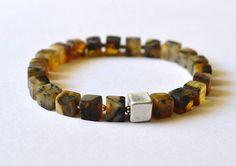 Baltic Amber bracelet unpolished amber bracelet amber by KARUBA