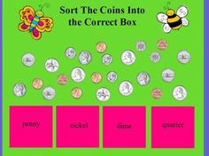 A Minute for Money for Promethean Board - Young and Lively Kindergarten - TeachersPayTeachers.com