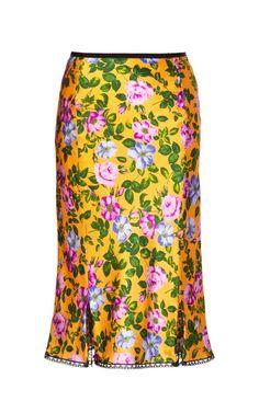 Floral Printed Pencil Skirt by Nina Ricci Now Available on Moda Operandi