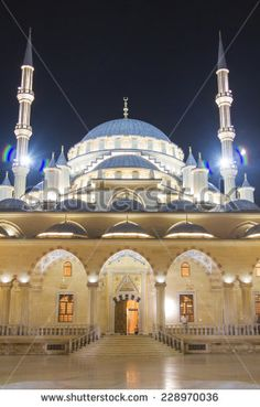 GROZNY, RUSSIA - SEPTEMBER 4: Main mosque of the Chechen Republic - Heart of Chechnya on September 04, 2014 in Grozny.