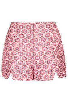 { Premium Folk Tile Shorts }