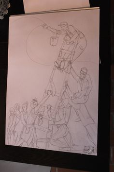 sketch for the Dario Fo play