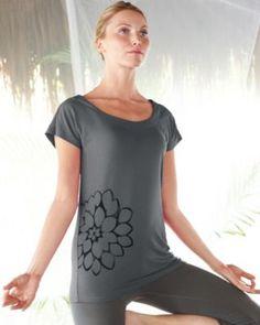 zinni™ by Garnet Hill Modern Easy Yoga Tee