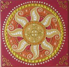 Napmandala Föld szimbólummal / Sunmandala Earth symbol  ( magyar szimbólum/ Hungarian symbol)