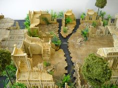 Ruined sandstone jungle city