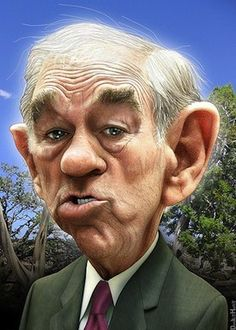 Ron Paul Caricature...FOLLOW THIS BOARD FOR GREAT CARICATURES OF PEOPLE WE KNOW..I'LL BE ADDING NEW PINS DAILY..