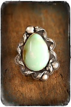 Beauty in the Breakdown Ring- A Sterling Silver and Turquoise Finger Festoon