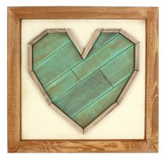 Barnwood Heart Frame - Click through for project instructions.