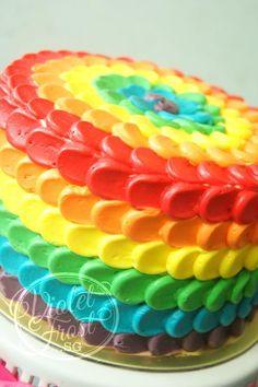 You have to see Rainbow Petal Cake by serwiwawa!