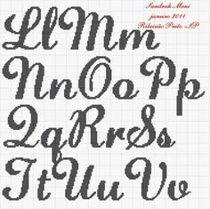 Thrilling Designing Your Own Cross Stitch Embroidery Patterns Ideas. Exhilarating Designing Your Own Cross Stitch Embroidery Patterns Ideas. Crochet Alphabet, Cross Stitch Alphabet Patterns, Cross Stitch Letters, Cross Stitching, Cross Stitch Embroidery, Embroidery Patterns, Sorority Letters, Cursive Letters, Needlepoint Stitches