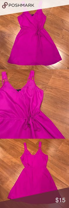 Forever 21 Dress Gorgeous fuchsia forever 21 dress. Gently used. Small stain on lower half of dress- shown in last picture. Please ask any questions before buying 💜 Forever 21 Dresses