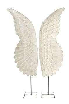 Wodden Angel wings on stand hand carved wooden sculptural angel wings displayed on accompanying stands. Ideal on a dresser. Wood Angel Wings, Angel Wings Wall Art, White Angel Wings, Wooden Angel, Hand Sculpture, Hand Carved, Carved Wood, Shabby Chic, Carving
