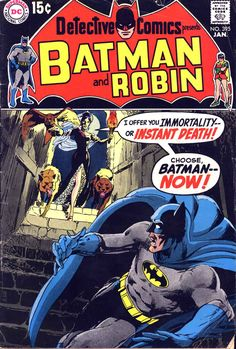 Detective Comics presents Batman and Robin, Cover by Neal Adams