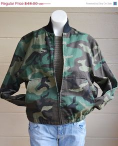 ON SALE 10% of everything in our shop! Vintage Military Camo Jacket Army Camo by founditinatlanta, $43.20