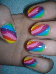 Fun Colourful Holiday Nails Tips