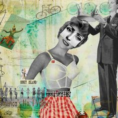 Queen 4 Day  Mixed Media/Altered Art – By Ricki Mountain Studios. I reworked vintage images. Mixed media digital collage/montage. Altered art products, embellishments, collage sheets, unique found items and ooak --art pieces. Glued to a piece of paper or canvas.  -- Cheers, Ricki Mountain