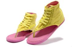 Vibrant Yellow Converse Chuck Taylor All Star Thong High Sandal Womens Pearl Pink