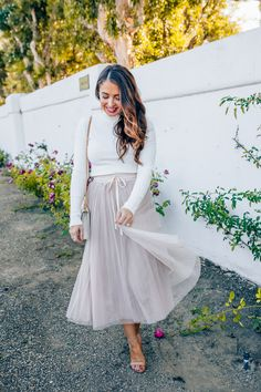 Styling a tulle skir
