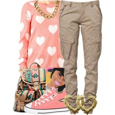 A fashion look from December 2013 featuring Forever 21 sweaters, CREAM pants and Converse sneakers. Browse and shop related looks.