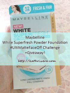 Maybelline White Superfresh #UltiMatteFaceOff Challenge + Giveaway! | Dear Kitty Kittie Kath- Beauty, Fashion, Lifestyle, and Mommy Blog