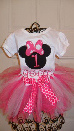 Boutique First Birthday Minnie Mouse Shirt