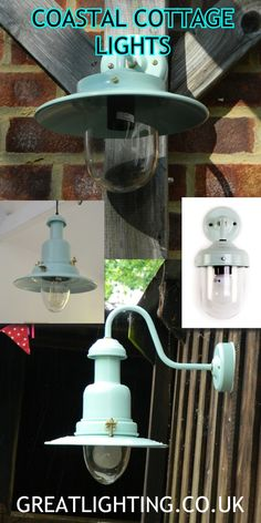 Coastal Cottage Lighting Ideas, in Seaspray a pale duck egg blue, all made in the UK.  Lots more ideas on our website.