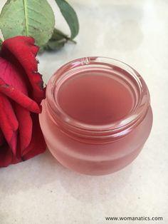 DIY calmante tónico de aloe color de rosa