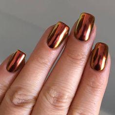 Sorcery SFX Multi-chrome powder Nails/beauty Visit the post for more. Polygel Nails, Nail Manicure, Hair And Nails, Acrylic Nails, Beautiful Nail Art, Gorgeous Nails, Pretty Nails, Crome Nails, Chrome Nail Powder