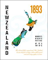 New Zealand Map Print poster celebrating women's right to vote. Women Right To Vote, Heart Map, Great Britain, New Zealand, Growing Up, Poster Prints, Suffragettes, Women's Rights, News