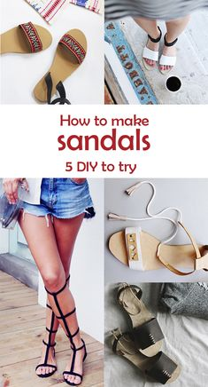 Ohoh Blog - diy and crafts: 5 DIY to try # Sandals